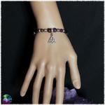 bracelet triquetra améthyste et lepidolite 2