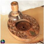 fontaine à encens bouddha bois