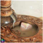 fontaine à encens bouddha bois 2