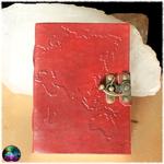 carnet cuir grimoire carte du monde voyage