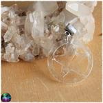 Pendentif pentagramme en cristal de roche 2