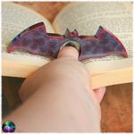 porte page bloque page chauve souris gris rouge 3