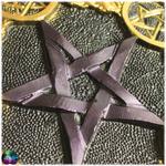 pentacle dautel velour pourpre et doré 2