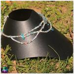 collier de fée cristal de roche et amazonite 2