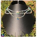 collier de fée cristal de roche et amazonite 1