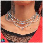 collier de fée cristal de roche et amazonite 3
