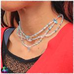 collier de fée cristal de roche et amazonite 4