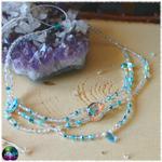 collier de fée cristal de roche et amazonite 5