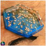 vide poche coupelle hexagonal fond marin coquillage sable mer 3