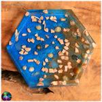 vide poche coupelle hexagonal fond marin coquillage sable mer 4