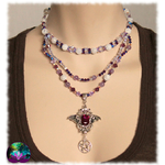Collier purple witch en améthyste 2