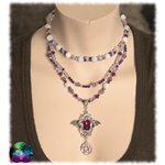 Collier purple witch en améthyste 3