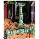 grand bougeoir antique turqoise doré 3 700