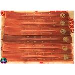 porte encens bois laiton et symboles 2