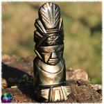 Sculpture dieu azteque maya obsidienne dorée n°10 2