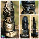 Sculptures mexicaines en Obsidienne dorée n°10