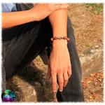 bracelet crane turquoise graines et bois 2