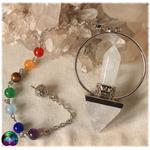 Pendule pyramidale cristal de roche