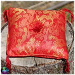 coussin bol tibetain rouge