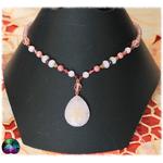 Collier harmonie énergétique quartz rose