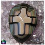 Cabochon oeil céleste croix n20