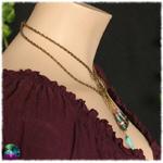 collier calavera bleue style antique 3