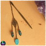 Pic à cheveux Calavera azul 2