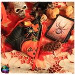 pochette cartes araignée citrouilles halloween 2