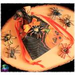 pochette cartes araignée citrouilles halloween