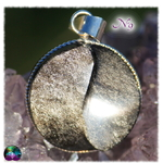 Pend obsi argente ying yang rond 9