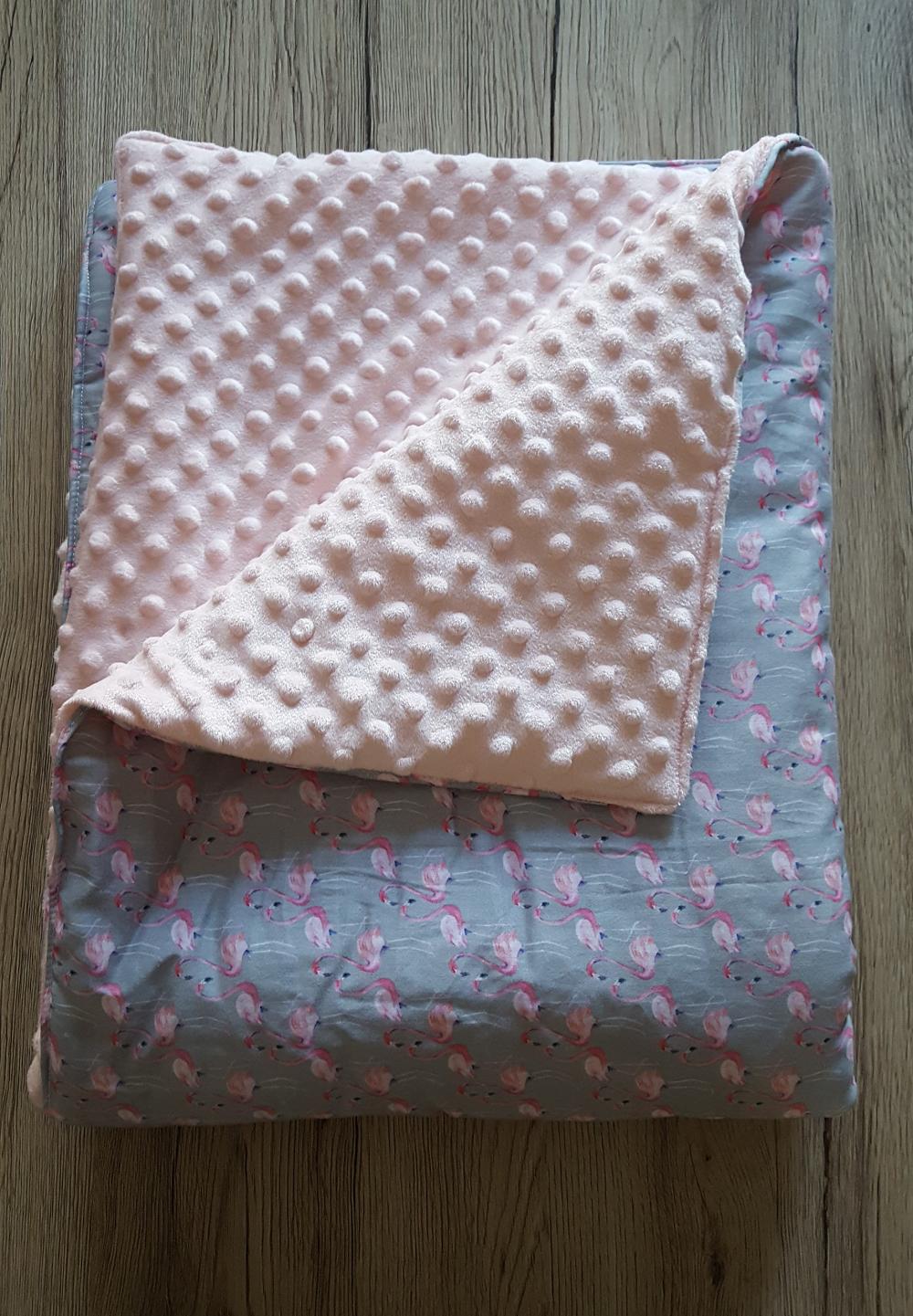 couverture bébé flamands roses