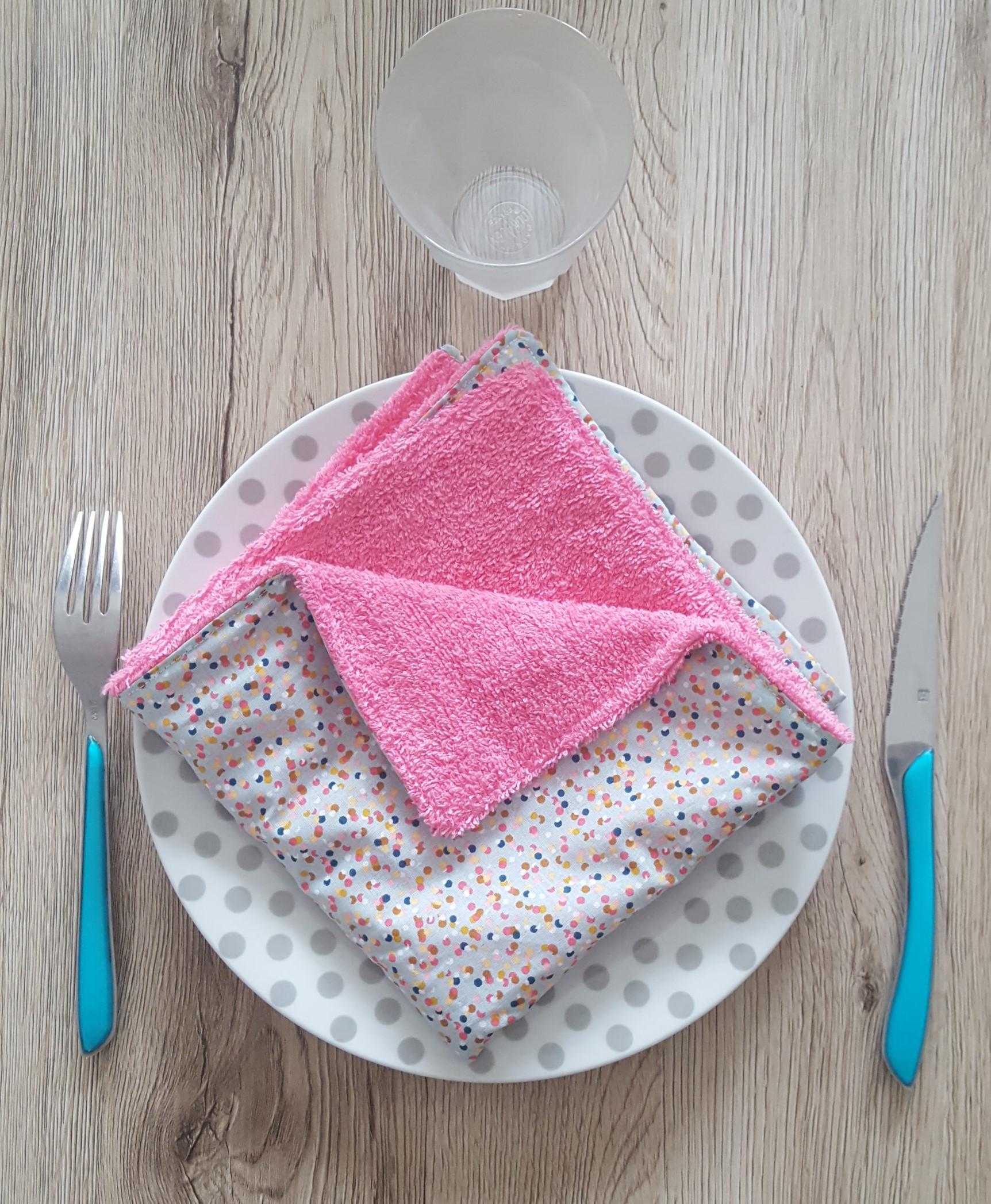Serviette de table moucheté