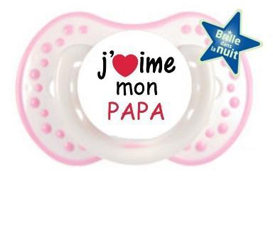 sucette j aime mon papa