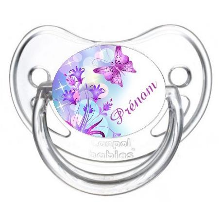 sucette bébé  design papillon
