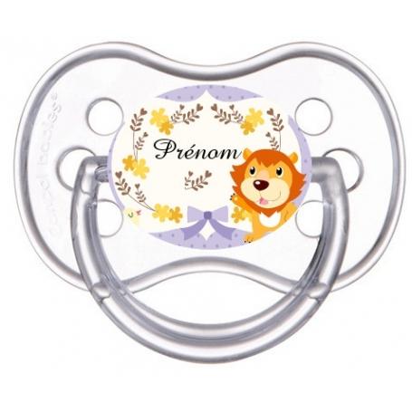 Sucette bébé lion