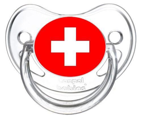 Sucette drapeau suisse