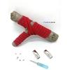 Lacet magnétique Fast-Lace collection Unie design Bande Rouge