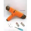Lacet magnétique Fast-Lace collection Unie design Bande Orange