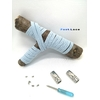 Lacet magnétique Fast-Lace collection Unie design Bande Bleu Lumiere