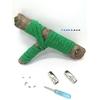 Lacet magnétique Fast-Lace collection Unie design Bande Vert foncé