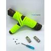 Lacet magnétique Fast-Lace collection Unie design Bande Jaune Fluo