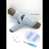 Les lacets magnétiques Fast-Lace collection assortie Bleu Lumière