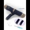 Les lacets magnétiques Fast-Lace collection assortie bleu navy