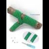 Les lacets magnétiques Fast-Lace collection assortie vert foncé