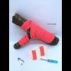 Les lacets magnétiques Fast-Lace collection assortie rouge fluo