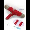 Les lacets magnétiques Fast-Lace collection assortie rouge