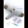 Les lacets magnétiques Fast-Lace collection assortie gris