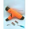 Fast-Lace les lacets magnétiques collection unie avec point orange fluo