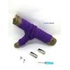 Fast-Lace les lacets magnétiques collection unie avec point violet