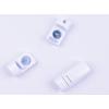 lacets magnétiques Fast-Lace fermoirs couleurs métallisées blanc